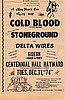 Cold Blood headlines Centennial Hall 1974